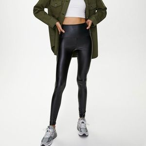 Aritzia Wilfred free daria leather leggings XXS